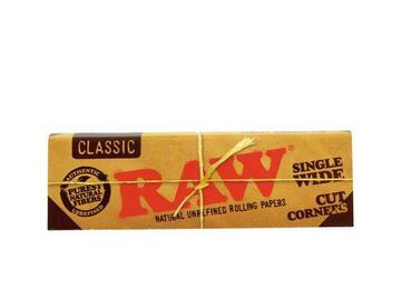 Post Now: RAW Classic Rolling Papers - Single Wide Cut Corners