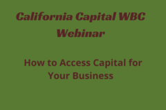 Announcement: How to Access Capital for Your Business