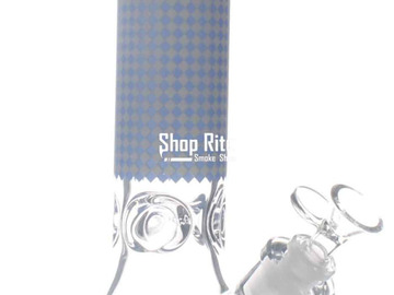 Post Now: Transparent Blue Dotted Bong