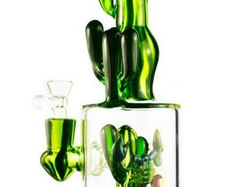 Post Now: Tattoo Glass - Cactus Bong