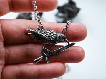 Selling: Collector Crow and Sword Necklace