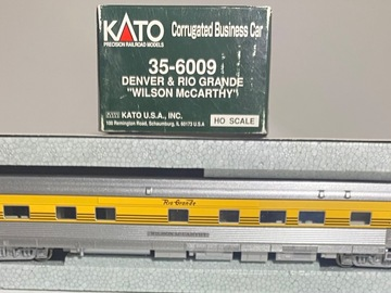 Selling with online payment: KATO 35-6009 CORRUGATED BUSINESS CAR D&RGW WILSON MCCARTHY