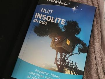 """Vente: Coffret Wonderbox """"Nuit insolite en duo"""" (69,90€)"""