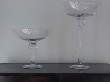 Ilmoitus: Myydään kaksi isoa lasimaljaa