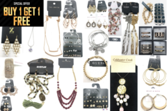 Liquidation/Wholesale Lot: Buy 1 Get 1 FREE!! 60 Pieces Total Jewelry Lot- ALL Name Brands