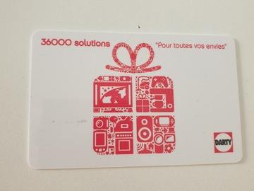 Vente: Carte cadeau Darty (250€)