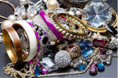 Liquidation/Wholesale Lot: 10 lbs Overstock Box Of Beautiful Jewelry All Indivually Packaged