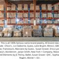 Liquidation/Wholesale Lot: 100 pcs Jewelry Lot of Designer& Name Brand jewelry- Tons Styles