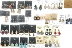 Liquidation/Wholesale Lot: 100 Pair All Designer Name Brand Earrings-Amazing Lot- Qualilty