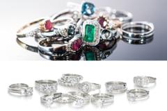 Liquidation/Wholesale Lot: 100 Womens Beautiful CZ Rings assorted sizes 6 thru 9