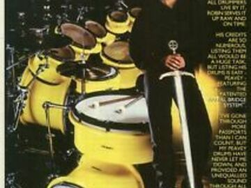 Selling with online payment: Rare Robin Dimaggio Peavy drum kit
