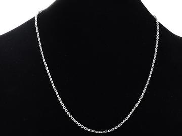 Vente au détail: Collier Chaine N°06-05 en acier inoxydable maille forçat de 60 cm