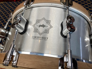 Selling with online payment: PDP Concept Select Snare Drum - 6.5 x 14 inch - Aluminum, Free Sh