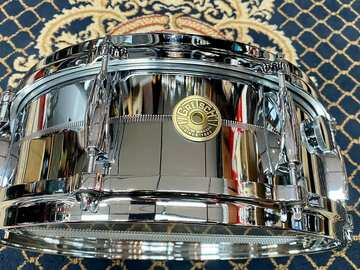 """Selling with online payment: Gretsch G4160M USA Chrome Over Brass 5x14"""" 8-Lug Snare Drum"""