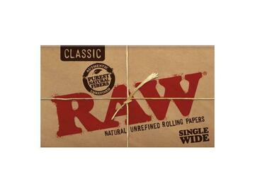 Post Now: RAW Classic Rolling Papers - Single Wide (100 Sheets)