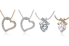 Liquidation/Wholesale Lot: 12 Assorted Necklaces Swarovski Elements Jewelry
