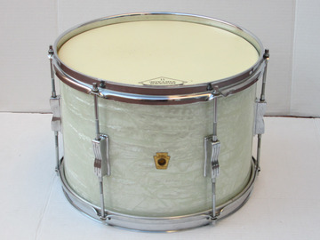 """Selling with online payment: LUDWIG CLUB DATE  13"""" TOM NO SERIAL WHITE MOTHER PEARL WMP"""