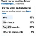 Make a post: Let me cover your market research with a Linked In Poll