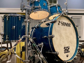 Selling with online payment: Sonor SQ2 Medium Maple in Birdseye Azure High Gloss.