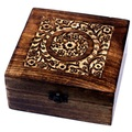For Sale: Aromatherapy Floral Carved Box, Holds 25  (10ml Bottles)