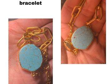 Liquidation/Wholesale Lot: 70 24k gold turquoise bracelets amethyst and druzy mixed