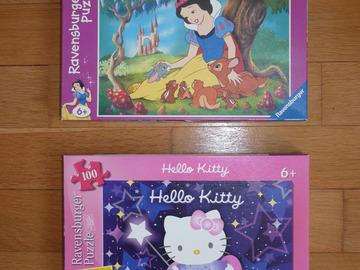 Vente: Lot de 2 puzzles 100 pièces fille