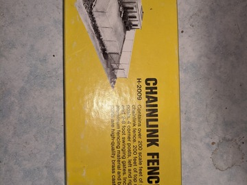 Classified: HO Alloy Forms Chain link fine scale kit. Complete.