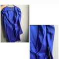 Selling without online payment: satin long sleeve wrap dress in blue