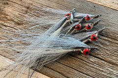 Selling with online payment: Handmade Clouser Minnow Silver Shiner (6 per pack)