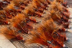 Selling with online payment: Handmade Beadhead Woolly Bugger Rusty Craw (6 per pack)