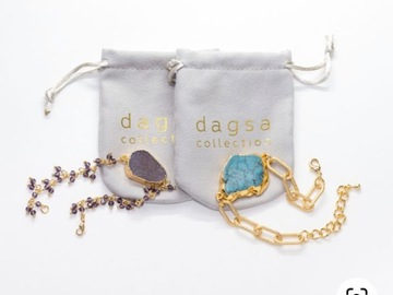 Liquidation/Wholesale Lot: 24k grey druzy with amethyst and turquoise with gold and druzy wl