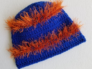 Selling with online payment: College - Gator or Seminole Fun Fur Beanie