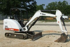 Renting out with online payment: Bobcat Mini Excavator
