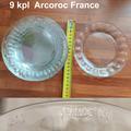 Myydään: 9 Arcoroc France glass plates