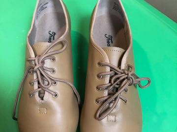 Selling A Singular Item: Tan Tap Shoes-Size 7 (Never Worn)