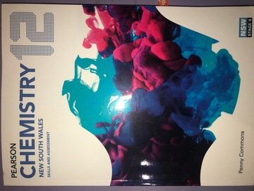 Selling: Pearson's Yr 12 Chemistry textbook and workbook