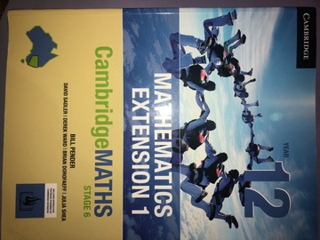 Selling: Cambridge Yr 12 Maths extension textbook