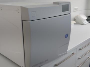 Gebruikte apparatuur: Castellini sterilisator C17 plus