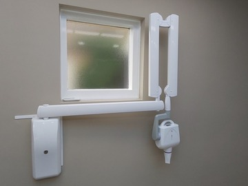 Gebruikte apparatuur: röntgenapparaat max 70 HF/DC met zwenkarm