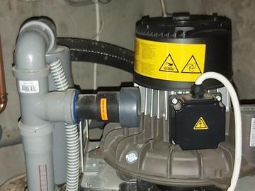 Gebruikte apparatuur: afzuigmotor