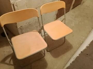 Selling: Lot de 2 chaises pliantes