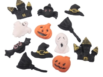 Delivery: Halloween Edible Trick or Treat Cup Cake Toppers