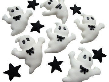 Delivery: Halloween Ghost Trick or Treat Cupcake Toppers