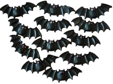 Delivery: 12 Bats Halloween Trick or Treat Cupcake Toppers
