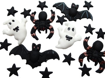 Delivery: Set Halloween Trick or Treat Cupcake Toppers