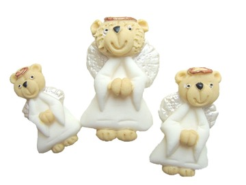 Delivery: Christmas Angel Teddies Cake Decorations