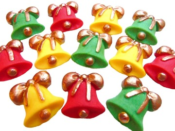 Delivery: Edible Christmas Bells Cupcake Cake Toppers