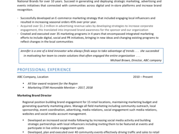 Offering with online payment: Quick Resume or CV Review