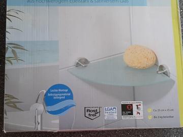 Biete Hilfe: Glasablage für Dusche/Badewanne
