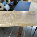 Selling with online payment: Flame Maple Natural Edge Bench